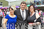 Pictured at Killarney Races Ladies Day on Thursday, from left: Ursula Kissane, Brian Kissane and Belinda Kissane Killorglin.