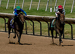 July 11, 2020: Gentle Ruler #5, ridden by Chris Landeros, wins the Robery G. Dick Memorial Stakes on Delaware Handicap Day at Delaware Park in New Stanton, Delaware. Scott Serio/Eclipse Sportswire/CSM