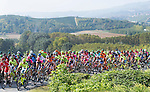 The peloton in action during the 100th Gran Piemonte NamedSport 2016 cycle race, starting at Diano d'Alba and running 207km finishing at Agliè, Italy. 29th September 2016.<br /> Picture: ANSA/Claudio Peri | Newsfile<br /> <br /> <br /> All photos usage must carry mandatory copyright credit (© Newsfile | Claudio Peri)