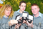 GAISCE AWARD: Students from CBS The Green.Secondary School in Tralee were awarded their.Bronze Gaisce Award for community work completed.throughout the year. from l-r were: Neil.O'Carroll, Ewan Lynch and Chris White.