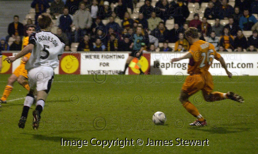 24/2/04          Copyright Pic : James Stewart.File Name : jspa07_mwell_v_abdeen.KEENY WRIGHT SCORES THE WINNER....James Stewart Photo Agency 19 Carronlea Drive, Falkirk. FK2 8DN      Vat Reg No. 607 6932 25.Office     : +44 (0)1324 570906     .Mobile  : +44 (0)7721 416997.Fax         :  +44 (0)1324 570906.E-mail  :  jim@jspa.co.uk.If you require further information then contact Jim Stewart on any of the numbers above.........