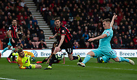 Newcastle United's Matt Ritchie (right) misses a has to score in front of an open goal<br /> <br /> Photographer David Horton/CameraSport<br /> <br /> The Premier League - Bournemouth v Newcastle United - Saturday 16th March 2019 - Vitality Stadium - Bournemouth<br /> <br /> World Copyright © 2019 CameraSport. All rights reserved. 43 Linden Ave. Countesthorpe. Leicester. England. LE8 5PG - Tel: +44 (0) 116 277 4147 - admin@camerasport.com - www.camerasport.com