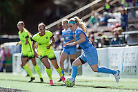Seattle, WA - Sunday, May 22, 2016: Chicago Red Stars defender Julie Johnston (8) during a regular season National Women's Soccer League (NWSL) match at Memorial Stadium.