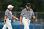 Culver City, CA 09/17/10 - Referees stroll to midfield for the coin toss.