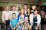Baby Fionn, son of Michelle & Brenda Mulvihill, tarbert who was christened in Tarbert church on Saturday last  and afterwards at the Saddle Bar, Listowel. L-R; Noel McElligott, JP Mulvihill, Ty Mulvihill, Mary Mulvihill, Michelle wit Fionn & Brendan Mulvihill, Bridget .... Tom & Mary Mulvihill.