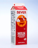 METRIC CONVERSION ON A MILK CARTON <br />