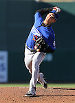 Las Vegas 51s' Matt Bowman pitches against the Reno Aces in Reno, Nev., on Sunday, July 26, 2015.<br /> Photo by Cathleen Allison
