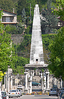The pyramid in Vienne that has given it's name to the restaurant La Pyramide. It is a 2000 year old vestige from Roman times when it was a marker point on a Roman race course  Vienne, Isère Isere, France, Europe