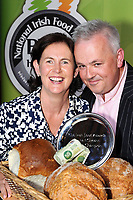 5-10-2014: Graham and Bernie Canning from 'Blast &amp; Wilde' in Slane, County Meath who won the Supreme Champion Award including Gold, Silver and Bronze medals and 'Best in Farmers Market' for their flavoured butterat the Blas na -hEireann (Irish Food Awards) in Dingle, County Kerry at the weekend.<br /> Picture by Don MacMonagle<br /> <br /> Repro   photo<br /> <br /> Note:<br /> The awards are now in their 8th year Products are tasted by panels of selected judges in two tranches resulting in the winning products being awarded Gold, Silver &amp; Bronze as well as some key awards such as Best in Farmers Market and Chef&rsquo;s Choice. The Blas awards are the biggest blind tasting of produce in the country, and the criteria on which the product is judged as well as the judging system itself, which was developed by Blas na hEireann with the Food Science Dept of UCC, is now recognised as an international industry standard. <br /> <br /> <br /> &copy; Photo by Don MacMonagle - macmonagle.com<br /> info@macmonagle.com