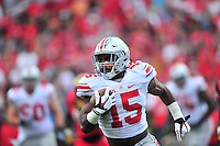 Buckeyes' Ezekiel Elliot gets some running room. Ohio State trounced Maryland 52-24 during a game at the Capital One Field in Byrd Stadium, College Park, MD on Saturday, October 3, 2014.  Alan P. Santos/DC Sports Box