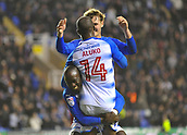 31st October 2017, Madejski Stadium, Reading, England; EFL Championship football, Reading versus Nottingham Forest;Sone Aluko of Reading celebrates scoring their third goal with his team