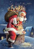 Interlitho, Simonetta, CHRISTMAS SANTA, SNOWMAN, paintings, santa, chimney, KL5921,#x# Weihnachtsmänner, Papá Noel, Weihnachten, Navidad, illustrations, pinturas klassisch, clásico