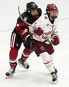Matti Hartman (NU - 16), Caitrin Lonergan (BC - 11) -  The Boston College Eagles defeated the Northeastern University Huskies 2-1 in overtime to win the 2017 Hockey East championship on Sunday, March 5, 2017, at Walter Brown Arena in Boston, Massachusetts.