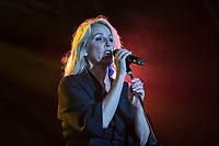 Sara Dallin of Bananarama performs at AmpRocks during Ampfest at Ampthill Great Park, Ampthill, England on 29 June 2018. Photo by David Horn.