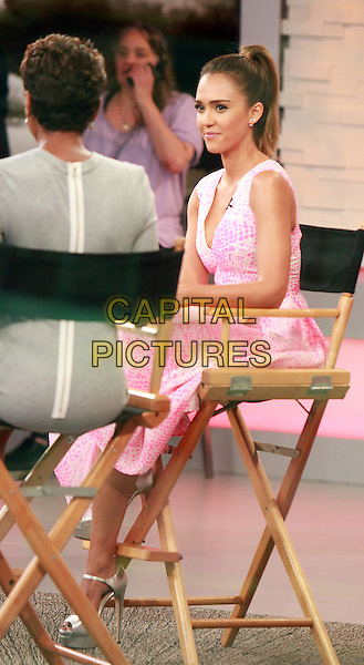 NEW YORK, NY - AUGUST 12: Jessica Alba at Good Morning America promoting the new movie Sin City: A Dame to Kill For in New York City on August 12, 2014. <br /> CAP/MPI/RW<br /> &copy;RW/MPI/Capital Pictures