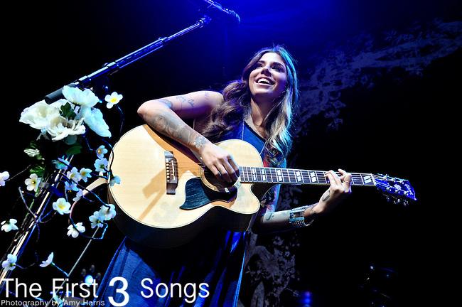Christina Perri performs at the Riverbend Musc Center in Cincinnatti, Ohio