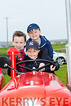 Enjoying the 10th Annual Maurice Collins Memorial Vintage day on the lands of Gerard McCarthy Banna West, Ardfert on Sunday were Matt Pierce, Harrison Pierce and Mason Pierce from Ardfert