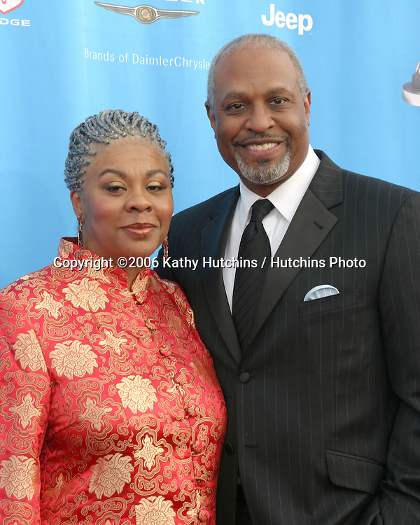 James Pickens Jr and wife.37th NAACP Image Awards.Shrine Auditorium.Los Angeles, CA.February 25, 2006.©2006 Kathy Hutchins / Hutchins Photo....