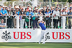 Danny Willett of England tees off the first hole during the 58th UBS Hong Kong Golf Open as part of the European Tour on 08 December 2016, at the Hong Kong Golf Club, Fanling, Hong Kong, China. Photo by Marcio Rodrigo Machado / Power Sport Images