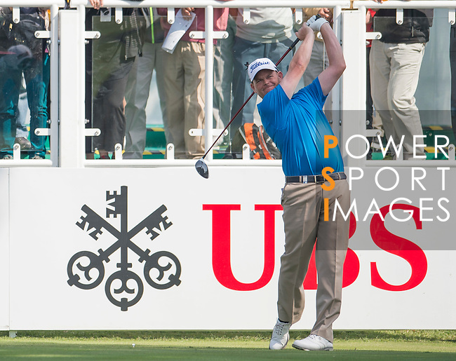 David Drysdale of Scotland tees off the first hole during the 58th UBS Hong Kong Golf Open as part of the European Tour on 08 December 2016, at the Hong Kong Golf Club, Fanling, Hong Kong, China. Photo by Marcio Rodrigo Machado / Power Sport Images
