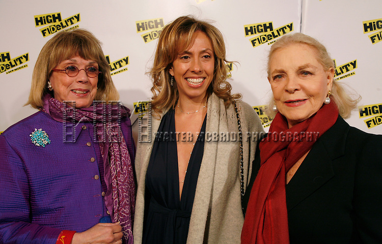 Phyllis Newman with her daughter Amanda Green (Lyrics) & Lauren Bacall.attending the Opening Night Performance of the New Broadway Musical HIGH FIDELITY at the Imperial Theatre in New York City..December 7, 2006. Walter McBride /