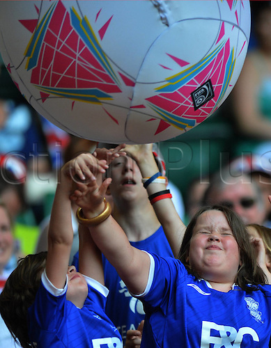 25.07.2012. Cardiff, Wales.  Football supporters Cheer during The Preliminary Round Group E Match of Womens Football between Great Britain and New Zealand in Cardiff Wales. Great Britain Won The Match 1 0