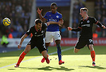 Cesar Azpilicueta of Chelsea holds off Ricardo Pereira of Leicester City during the Premier League match at the King Power Stadium, Leicester. Picture date: 1st February 2020. Picture credit should read: Darren Staples/Sportimage