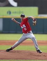 Gabriel Barbosa participates in the MLB International Showcase at Estadio Quisqeya on February 22-23, 2017 in Santo Domingo, Dominican Republic.
