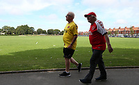 Fans make their way to the Highbury Stadium<br /> <br /> Photographer Stephen White/CameraSport<br /> <br /> The EFL Sky Bet League One - Fleetwood Town v AFC Wimbledon - Saturday 4th August 2018 - Highbury Stadium - Fleetwood<br /> <br /> World Copyright &copy; 2018 CameraSport. All rights reserved. 43 Linden Ave. Countesthorpe. Leicester. England. LE8 5PG - Tel: +44 (0) 116 277 4147 - admin@camerasport.com - www.camerasport.com<br /> <br /> Photographer Stephen White/CameraSport<br /> <br /> The EFL Sky Bet League One - Fleetwood Town v AFC Wimbledon - Saturday 4th August 2018 - Highbury Stadium - Fleetwood<br /> <br /> World Copyright &copy; 2018 CameraSport. All rights reserved. 43 Linden Ave. Countesthorpe. Leicester. England. LE8 5PG - Tel: +44 (0) 116 277 4147 - admin@camerasport.com - www.camerasport.com