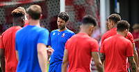 Lincoln City manager Danny Cowley, centre, during the pre-match warm-up <br /> <br /> Photographer Chris Vaughan/CameraSport<br /> <br /> Football - Pre-Season Friendly - Lincoln United v Lincoln City - Saturday 8th July 2017 - Sun Hat Villas Stadium - Lincoln<br /> <br /> World Copyright &copy; 2017 CameraSport. All rights reserved. 43 Linden Ave. Countesthorpe. Leicester. England. LE8 5PG - Tel: +44 (0) 116 277 4147 - admin@camerasport.com - www.camerasport.com