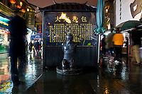 Una antica statua lungo la Strada Imperiale nel centro storico della citt&agrave;.<br /> A bronze statue on the Imperial Street