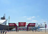 July 22, 2012..View of the Main Entrance, of the Olympic Park where Olympics Games will take place from July 27-Aug 12, 2012.