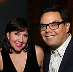 Kristen Anderson-Lopez and Robert Lopez attends the After Party for the Dramatists Guild Foundation toast to Stephen Schwartz with a 70th Birthday Celebration Concert at The Hudson Theatre on April 23, 2018 in New York City.