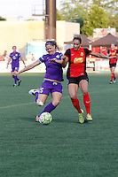 Rochester, NY - Saturday June 11, 2016: Orlando Pride forward Laura Alleway (5), Western New York Flash forward Lynn Williams (9) during a regular season National Women's Soccer League (NWSL) match between the Western New York Flash and the Orlando Pride at Rochester Rhinos Stadium.