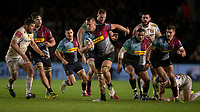 Harlequins' Alex Dombrandt in action during todays match<br /> <br /> Photographer Bob Bradford/CameraSport<br /> <br /> Gallagher Premiership Round 9 - Harlequins v Exeter Chiefs - Friday 30th November 2018 - Twickenham Stoop - London<br /> <br /> World Copyright &copy; 2018 CameraSport. All rights reserved. 43 Linden Ave. Countesthorpe. Leicester. England. LE8 5PG - Tel: +44 (0) 116 277 4147 - admin@camerasport.com - www.camerasport.com
