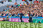 Mickey Harte during the All Ireland Senior Football Semi Final between Kerry and Tyrone at Croke Park, Dublin on Sunday.