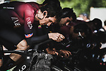 Geraint Thomas (WAL) and Team Ineos warm up before Stage 2 of the 2019 Tour de France a Team Time Trial running 27.6km from Bruxelles Palais Royal to Brussel Atomium, Belgium. 7th July 2019.<br /> Picture: ASO/Pauline Ballet | Cyclefile<br /> All photos usage must carry mandatory copyright credit (© Cyclefile | ASO/Pauline Ballet)