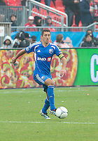20 October 2012: Montreal Impact midfielder Davy Arnaud #22 in action during an MLS game between the Montreal Impact and Toronto FC at BMO Field in Toronto, Ontario..The game ended in a 0-0 draw..