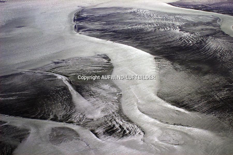 Saende der Nordsee bei Ebbe: EUROPA, DEUTSCHLAND, SCHLESWIG- HOLSTEIN, (GERMANY), 18.05.2004: Saende der Nordsee bei Ebbe