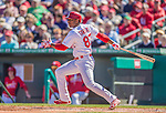 4 March 2013: St. Louis Cardinals outfielder Oscar Taveras in action during a Spring Training game against the Minnesota Twins at Roger Dean Stadium in Jupiter, Florida. The Twins shut out the Cardinals 7-0 in Grapefruit League play. Mandatory Credit: Ed Wolfstein Photo *** RAW (NEF) Image File Available ***