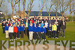 Captains Fantastic: Capt Jim Crowley and Lady Capt Margaret Murphy of Ardfert Golf Club who held their Drive-In at the club on Sunday morning with the help of James Kennedy (President), Rebecca McCarthy (Lady President) surrounded by eager members.   Copyright Kerry's Eye 2008