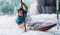 Kate Eckhardt (USA). Oceania Canoe Slalom Championships, Whero Whitewater Park, Auckland, New Zealand, 1st February 2020. Photo: Simon Watts/www.bwmedia.co.nz