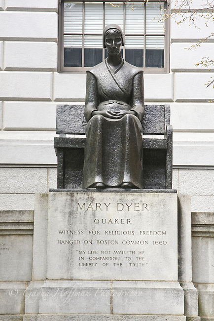 Statue of Mary Dyer, Quaker, Boston, MA