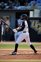 UCF Knights left fielder Tyler Osik (3) at bat during a game against the Siena Saints on February 17, 2019 at John Euliano Park in Orlando, Florida.  UCF defeated Siena 7-1.  (Mike Janes/Four Seam Images)