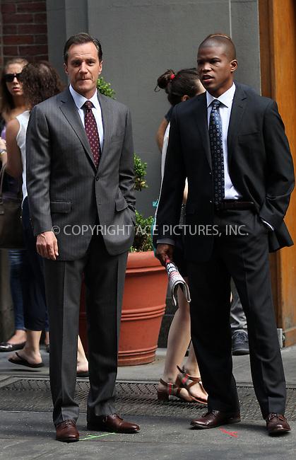 WWW.ACEPIXS.COM<br /> <br /> July 10 2013, New York City<br /> <br /> Tim DeKay (L) on the set of 'White Collar on July 10 2013 in New York City<br /> <br /> By Line: Zelig Shaul/ACE Pictures<br /> <br /> <br /> ACE Pictures, Inc.<br /> tel: 646 769 0430<br /> Email: info@acepixs.com<br /> www.acepixs.com