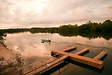 BRAZIL,  Amazon Jungle, boat driving on the Agua Boa River, Agua Boa fishing lodge