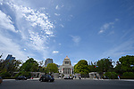 The National Diet building is seen in Tokyo, Japan on May 1, 2019, the first day of the Reiwa Era. (Photo by MATSUO.K/AFLO)