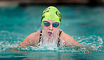Cottonwood's Anna Hibbard competes in the 50 yard breast race during the 53rd annual Country Club Swimming Championships on Monday, Aug. 6, 2012, in Kearns, Utah. (© 2012 Douglas C. Pizac)