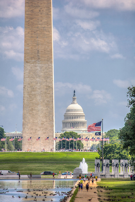 US Capitol Washington Monument WWII Memorial National Mall Washington DC