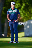 Jon Rahm (ESP) watches his putt on 10 during the round 1 of the Dean &amp; Deluca Invitational, at The Colonial, Ft. Worth, Texas, USA. 5/25/2017.<br /> Picture: Golffile | Ken Murray<br /> <br /> <br /> All photo usage must carry mandatory copyright credit (&copy; Golffile | Ken Murray)